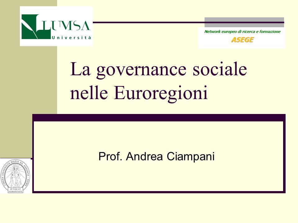 La governance sociale nelle Euroregioni