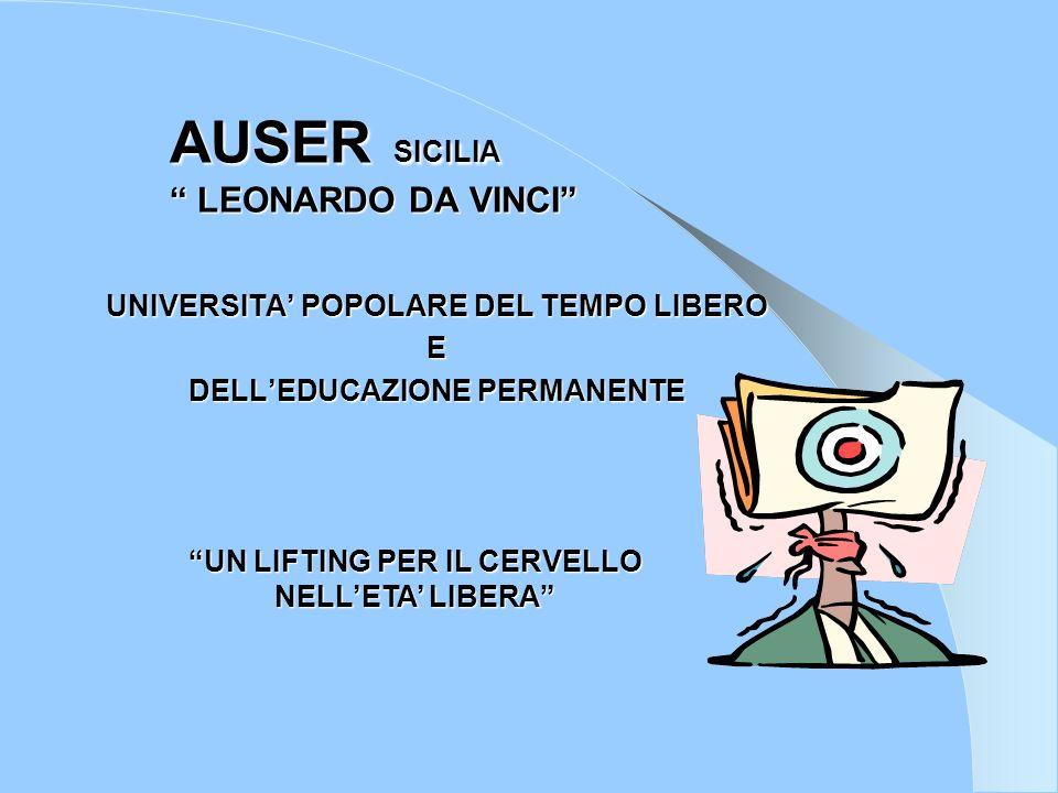 AUSER SICILIA LEONARDO DA VINCI