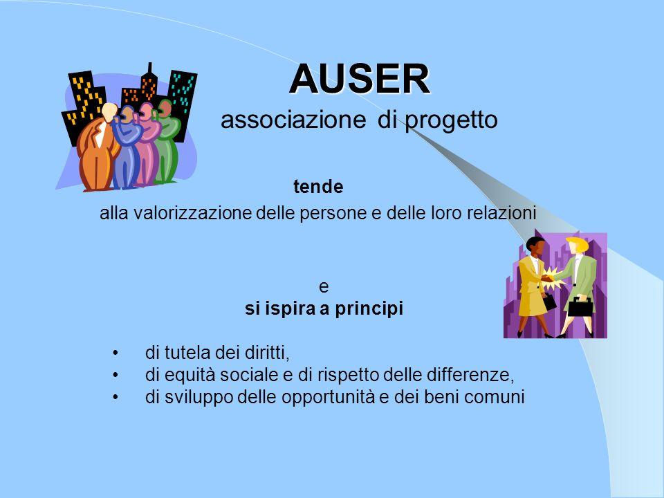 AUSER associazione di progetto tende