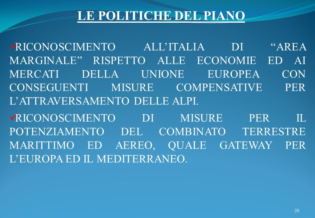 LE POLITICHE DEL PIANO