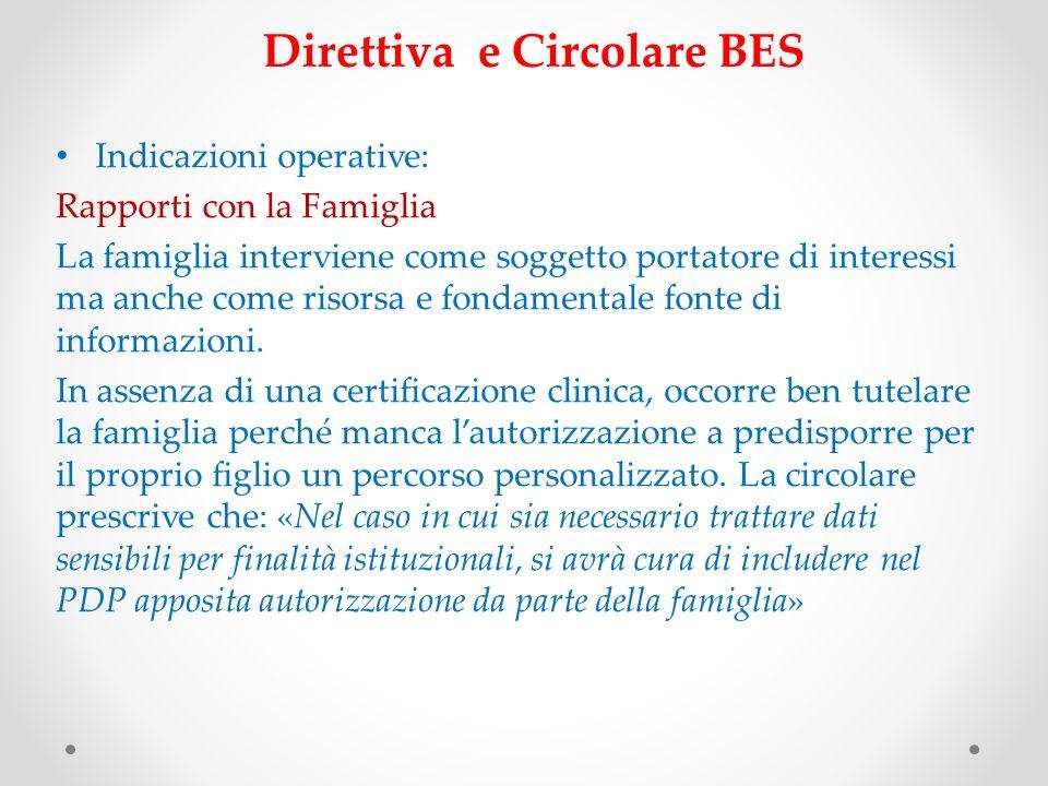 Direttiva e Circolare BES