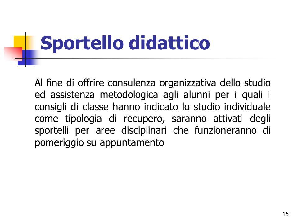 Sportello didattico