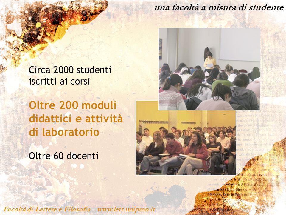 Oltre 200 moduli didattici e attività di laboratorio