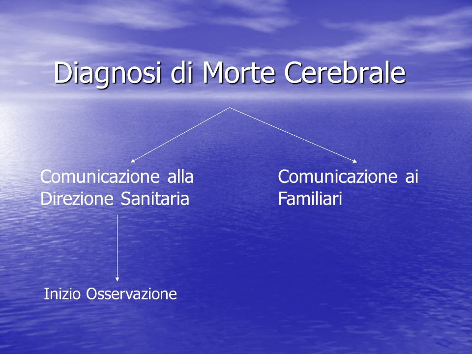 Diagnosi di Morte Cerebrale