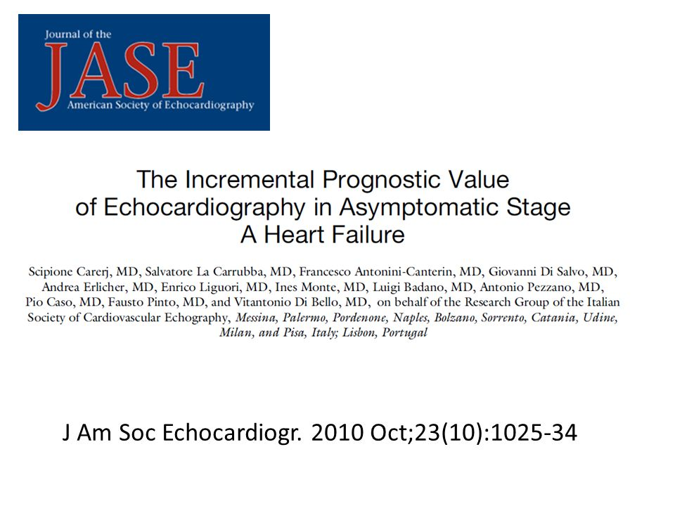 J Am Soc Echocardiogr. 2010 Oct;23(10):1025-34