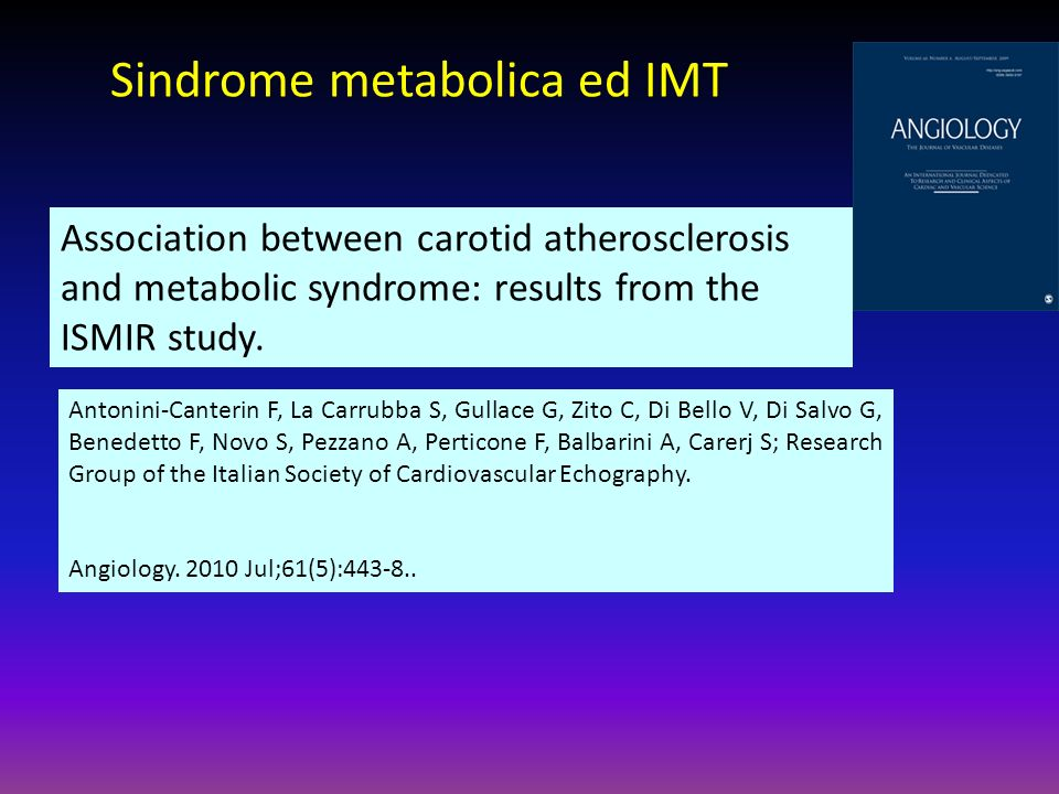 Sindrome metabolica ed IMT