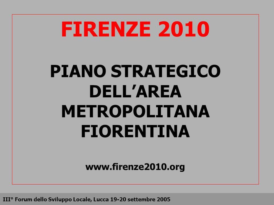 FIRENZE 2010 PIANO STRATEGICO DELL'AREA METROPOLITANA FIORENTINA www
