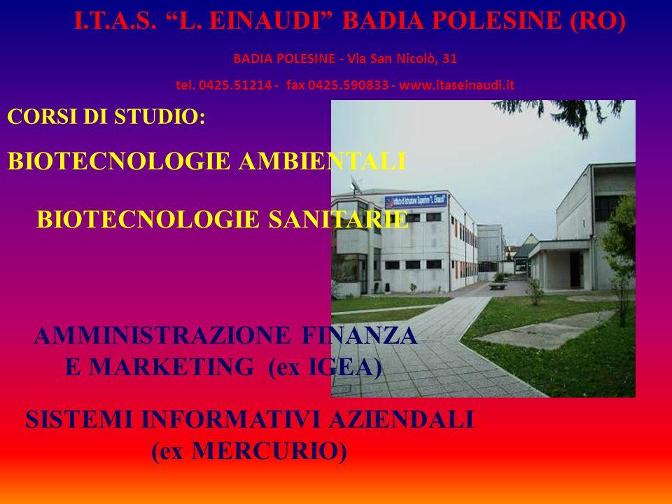 I.T.A.S. L. EINAUDI BADIA POLESINE (RO)