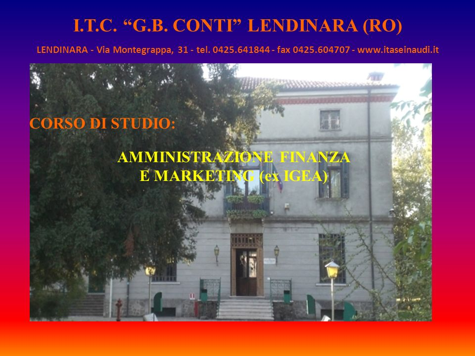 I.T.C. G.B. CONTI LENDINARA (RO) AMMINISTRAZIONE FINANZA