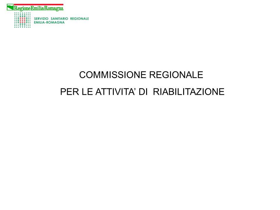 COMMISSIONE REGIONALE PER LE ATTIVITA' DI RIABILITAZIONE