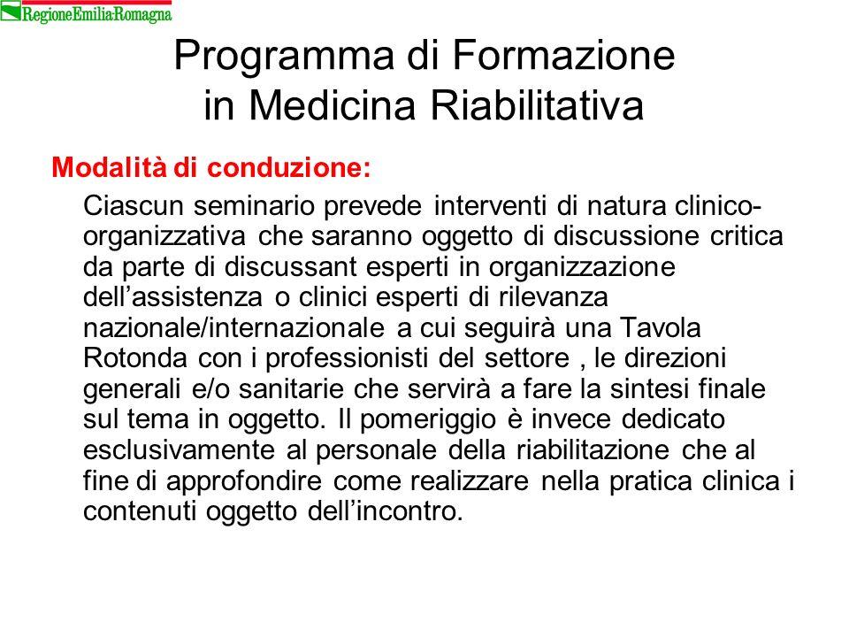 Programma di Formazione in Medicina Riabilitativa