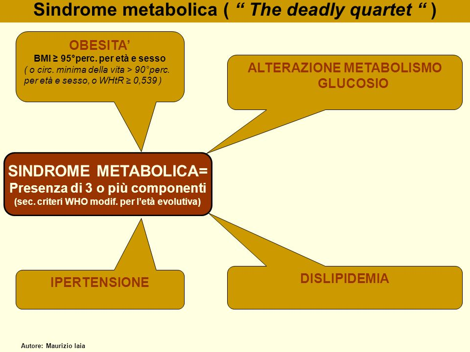 Sindrome metabolica ( The deadly quartet )