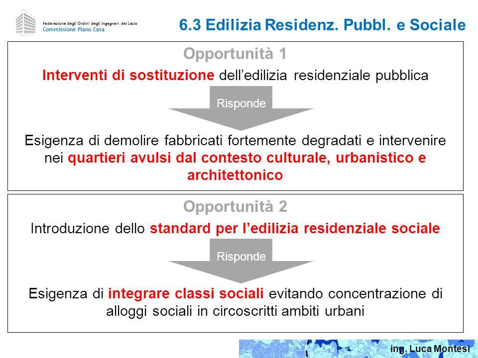 6.3 Edilizia Residenz. Pubbl. e Sociale