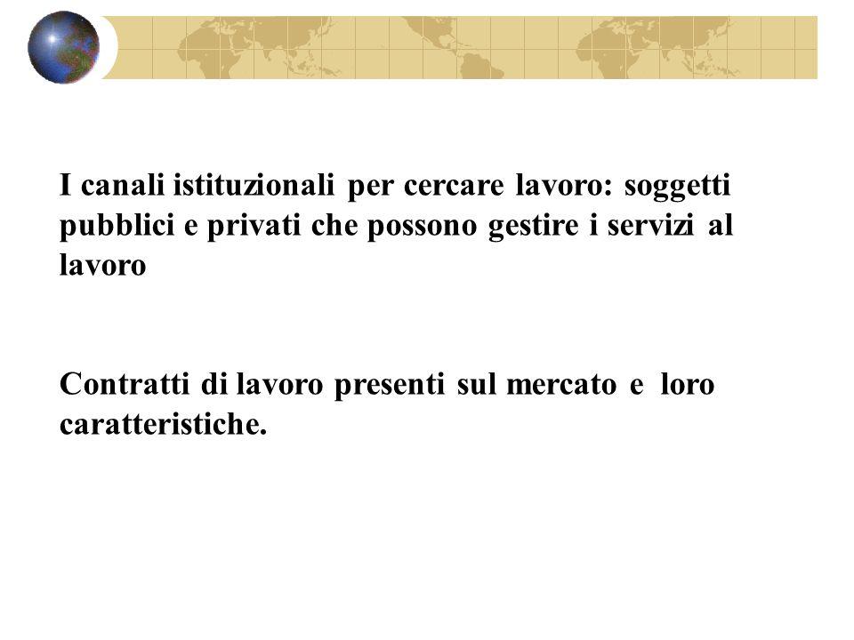 I canali istituzionali per cercare lavoro: soggetti pubblici e privati che possono gestire i servizi al lavoro