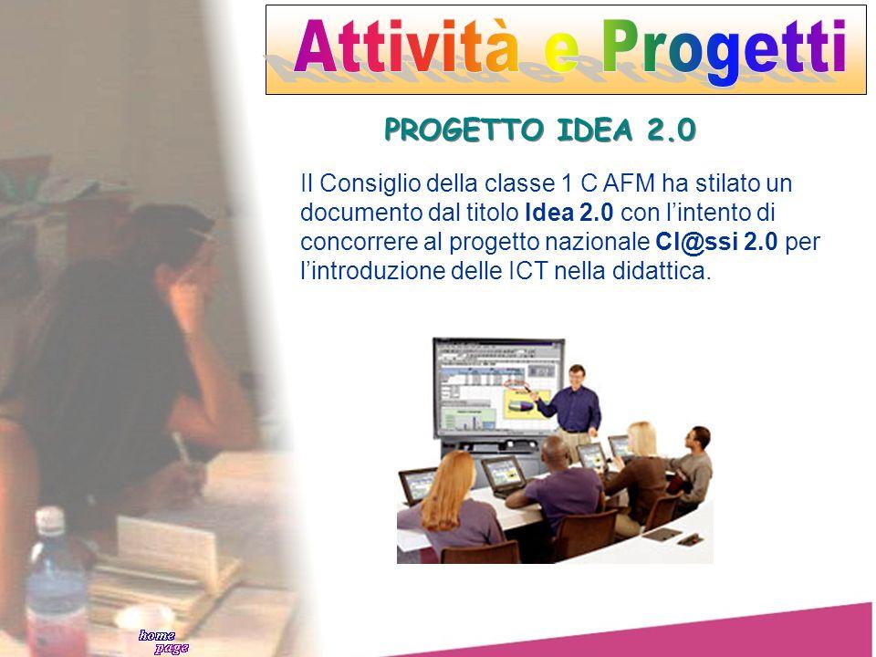 Attività e Progetti PROGETTO IDEA 2.0