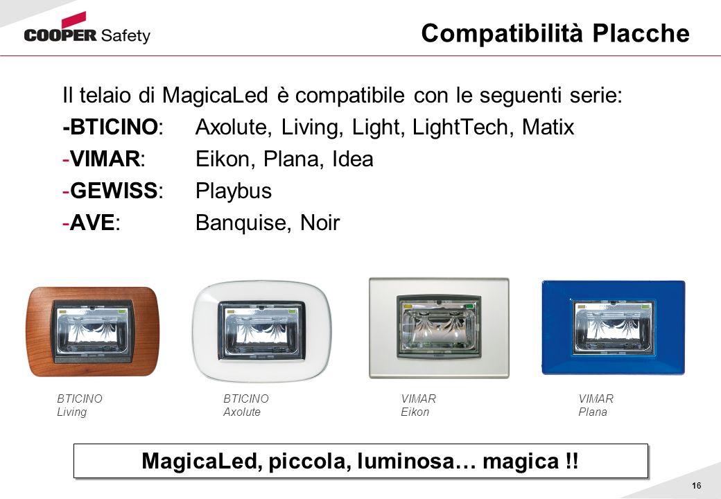 Compatibilità Placche
