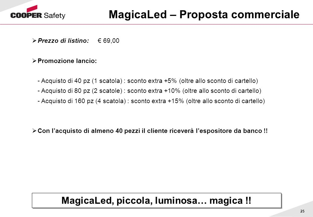 MagicaLed – Proposta commerciale