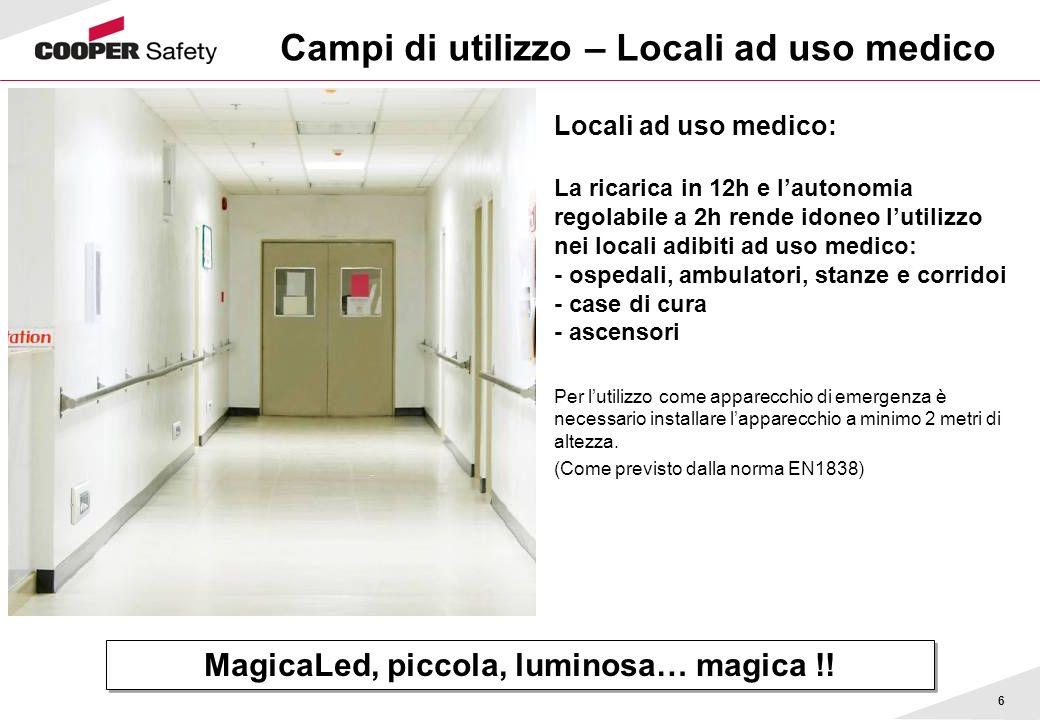 Campi di utilizzo – Locali ad uso medico