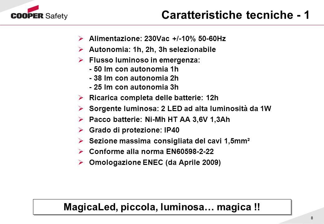 Caratteristiche tecniche - 1
