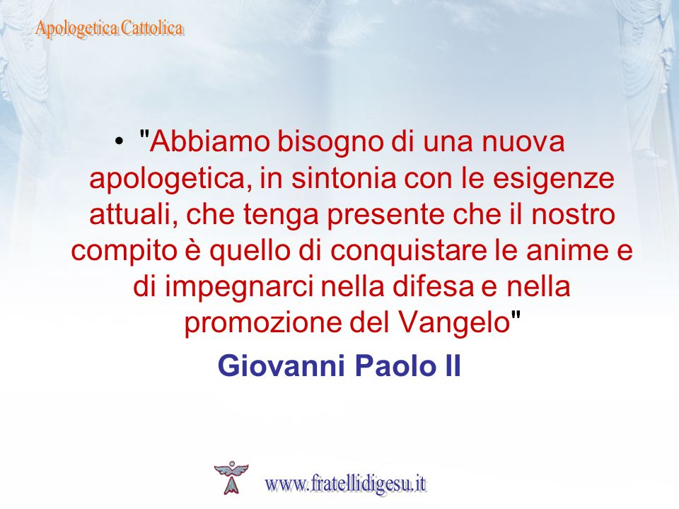 Apologetica Cattolica