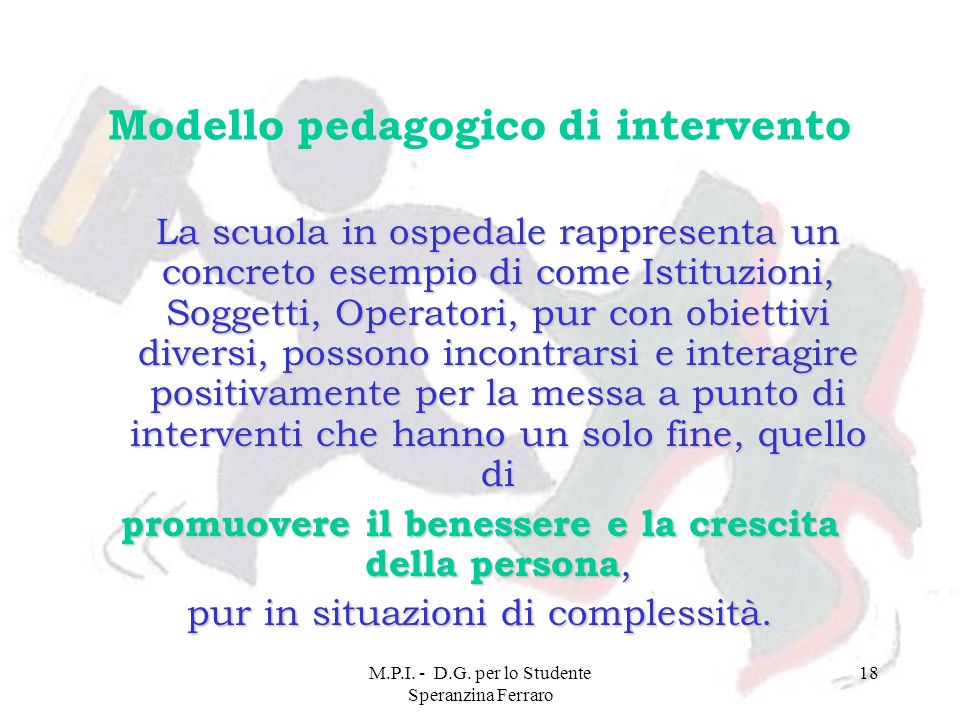 Modello pedagogico di intervento