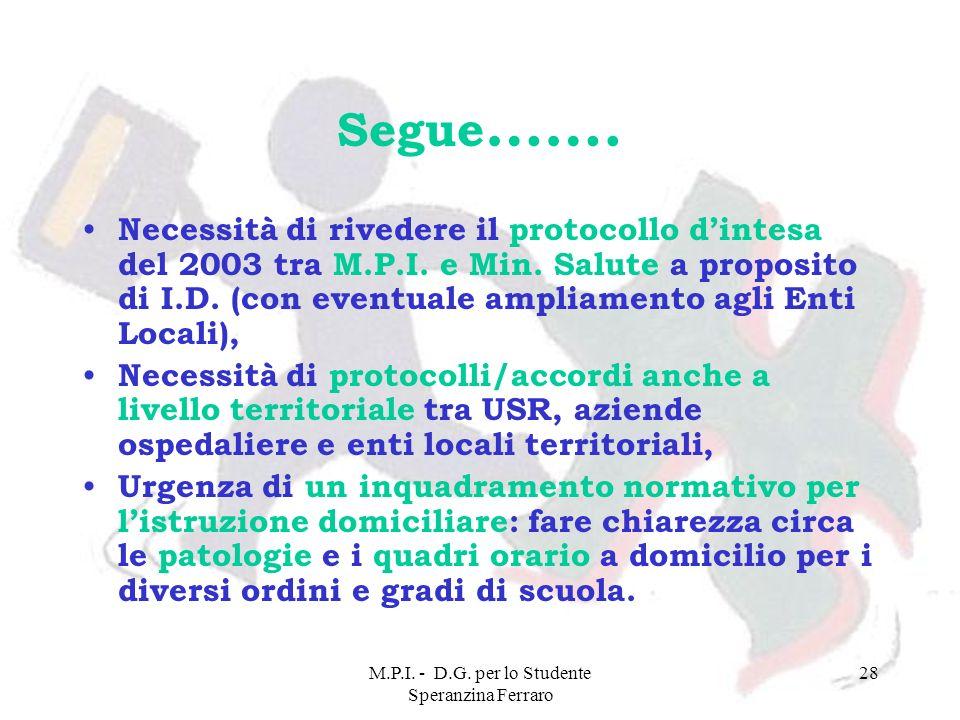 M.P.I. - D.G. per lo Studente Speranzina Ferraro