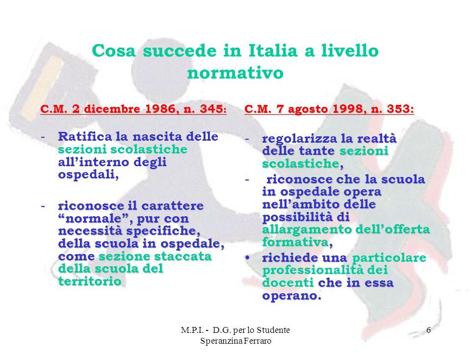 Cosa succede in Italia a livello normativo
