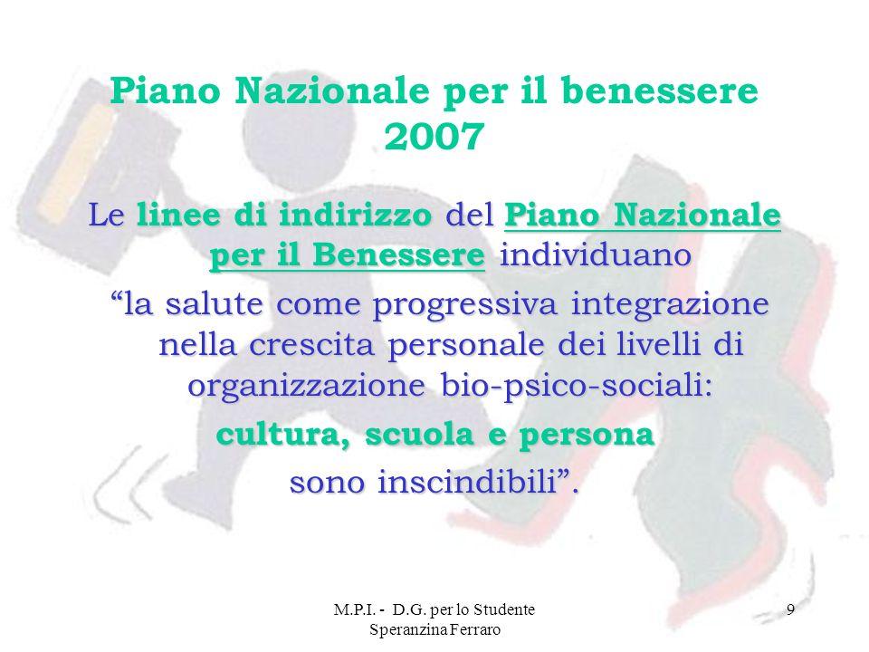 Piano Nazionale per il benessere 2007