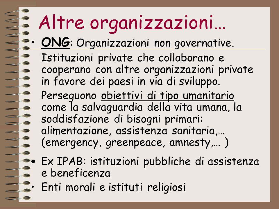 Altre organizzazioni…