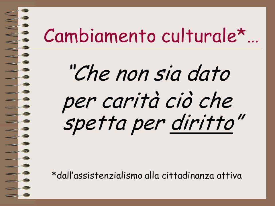 Cambiamento culturale*…
