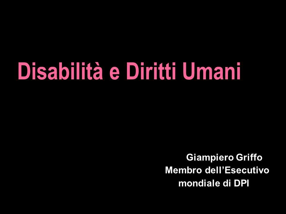 Giampiero Griffo Membro dell'Esecutivo mondiale di DPI