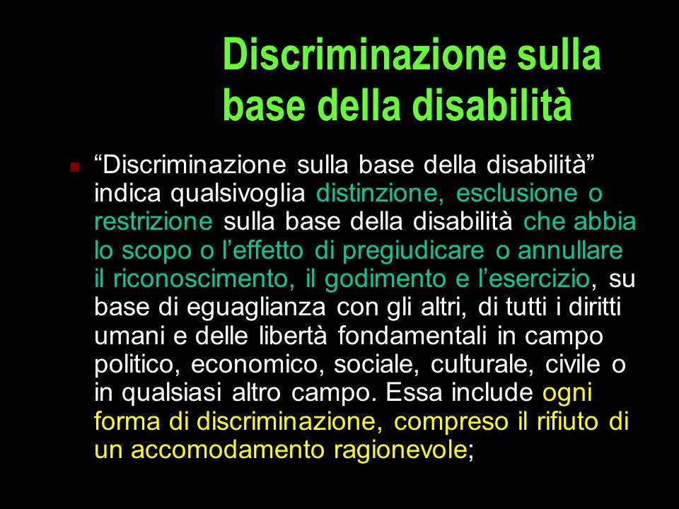 Discriminazione sulla base della disabilità