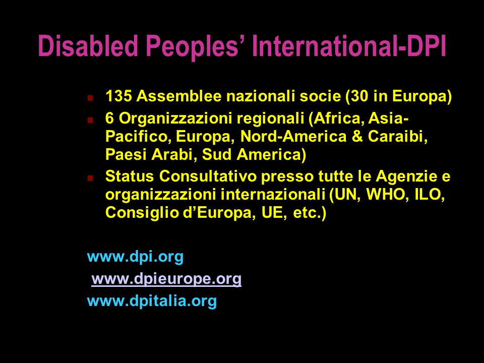 Disabled Peoples' International-DPI
