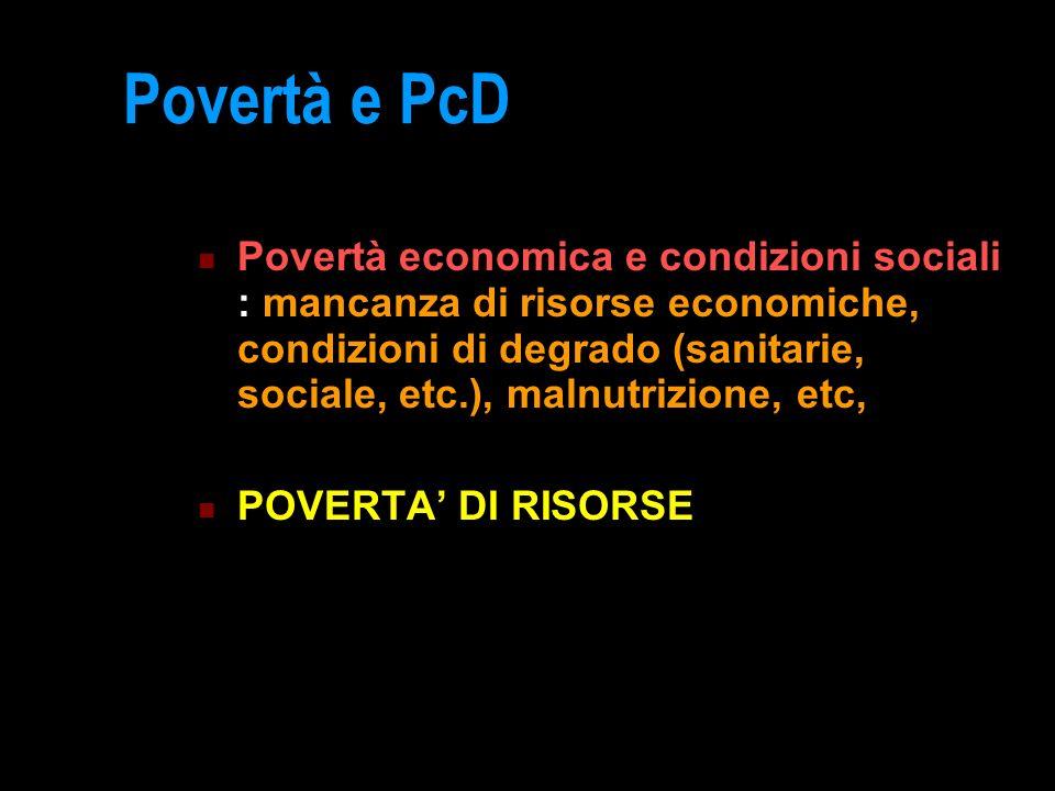 Povertà e PcD