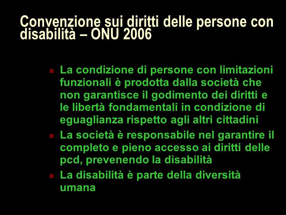 Convenzione sui diritti delle persone con disabilità – ONU 2006