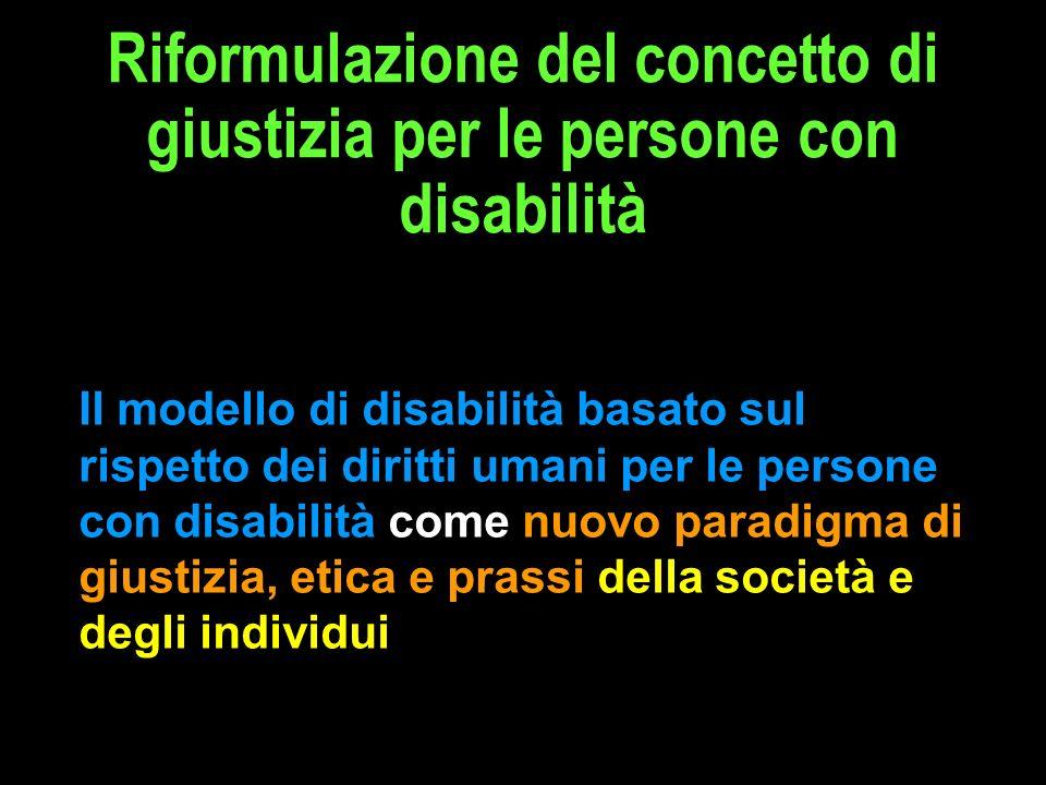 Riformulazione del concetto di giustizia per le persone con disabilità