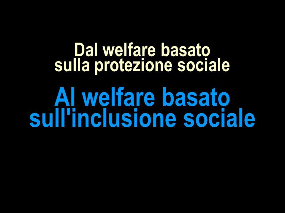 Dal welfare basato sulla protezione sociale Al welfare basato sull inclusione sociale
