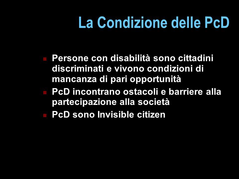 La Condizione delle PcD