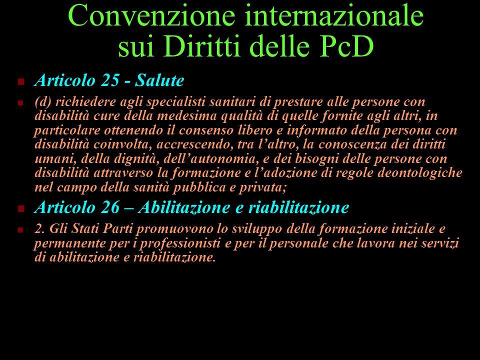 Convenzione internazionale sui Diritti delle PcD