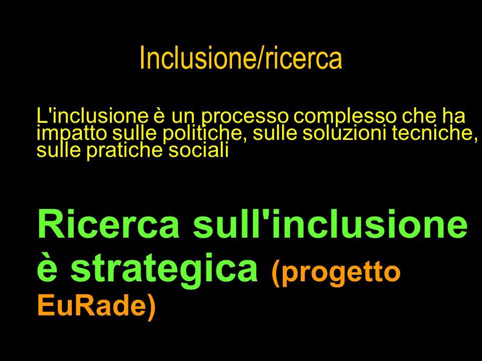 Ricerca sull inclusione è strategica (progetto EuRade)