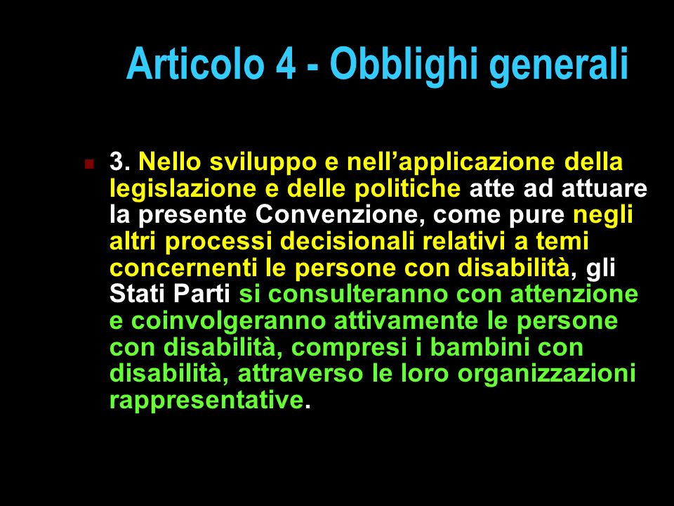 Articolo 4 - Obblighi generali