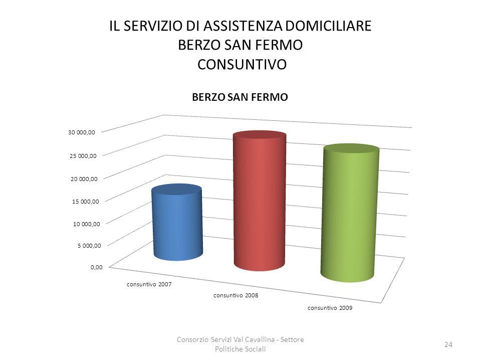 IL SERVIZIO DI ASSISTENZA DOMICILIARE BERZO SAN FERMO CONSUNTIVO