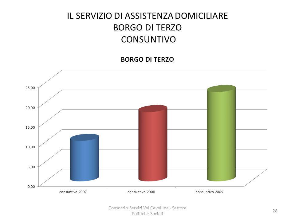 IL SERVIZIO DI ASSISTENZA DOMICILIARE BORGO DI TERZO CONSUNTIVO