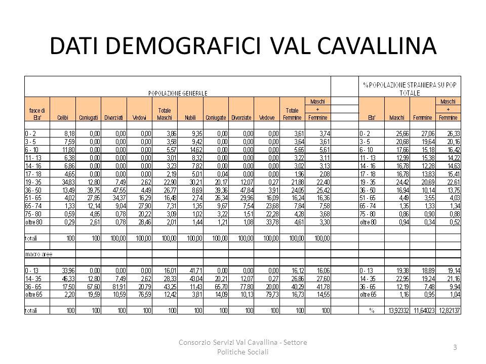 DATI DEMOGRAFICI VAL CAVALLINA