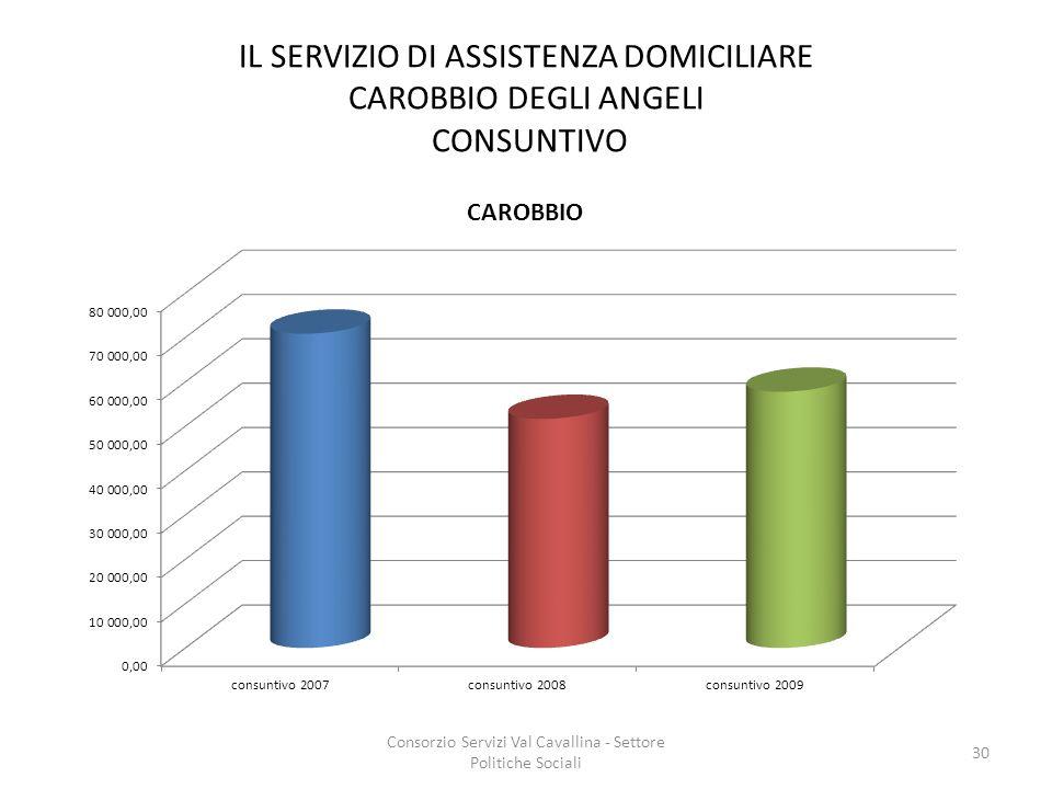 IL SERVIZIO DI ASSISTENZA DOMICILIARE CAROBBIO DEGLI ANGELI CONSUNTIVO