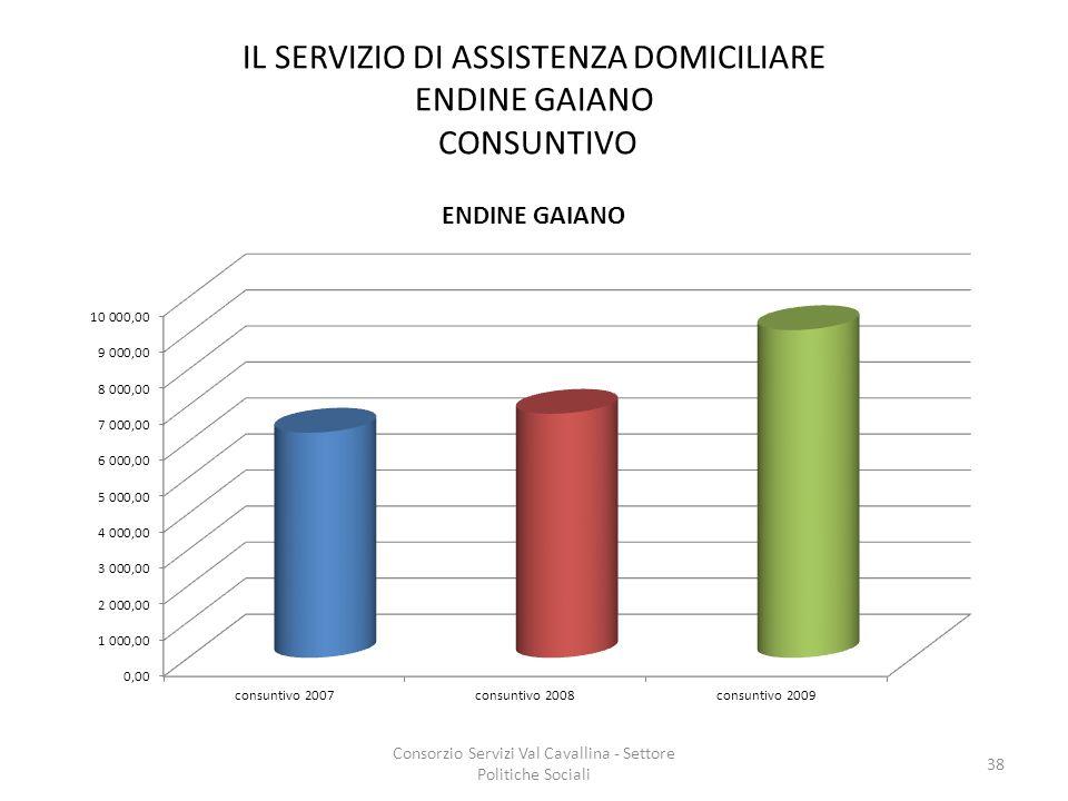 IL SERVIZIO DI ASSISTENZA DOMICILIARE ENDINE GAIANO CONSUNTIVO