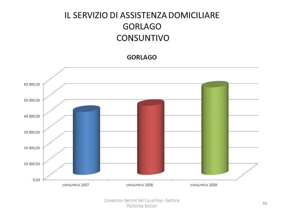 IL SERVIZIO DI ASSISTENZA DOMICILIARE GORLAGO CONSUNTIVO