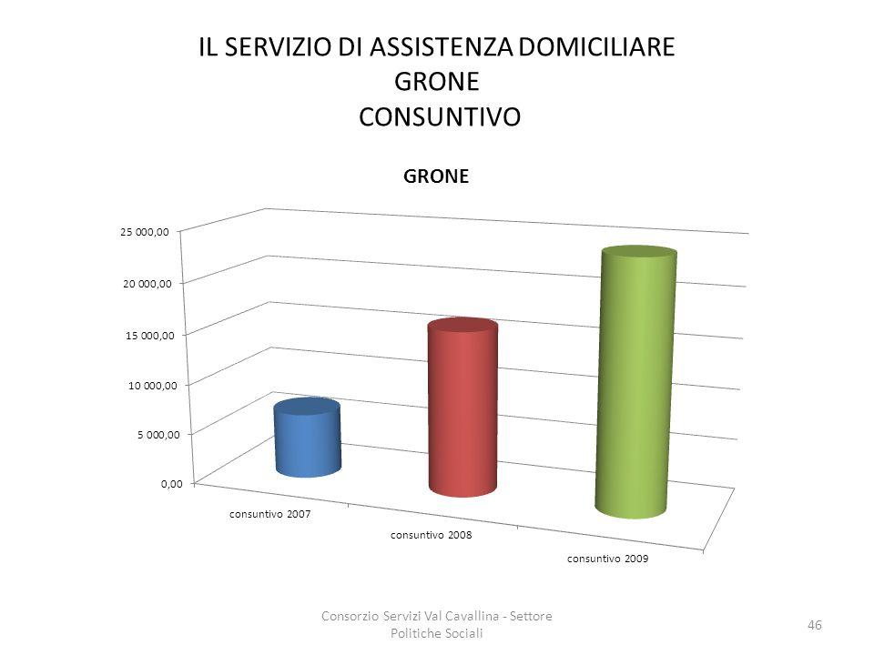 IL SERVIZIO DI ASSISTENZA DOMICILIARE GRONE CONSUNTIVO