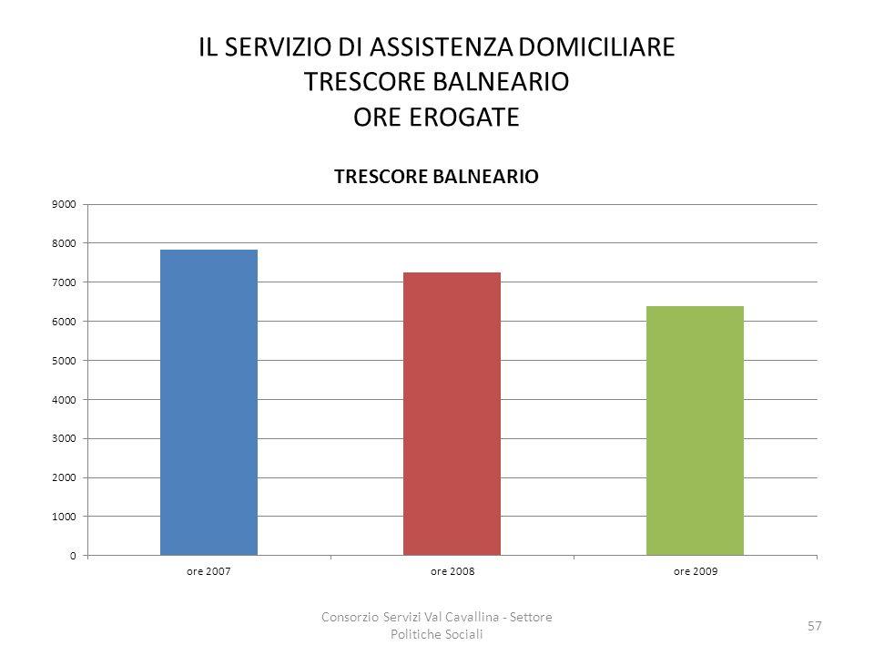 IL SERVIZIO DI ASSISTENZA DOMICILIARE TRESCORE BALNEARIO ORE EROGATE