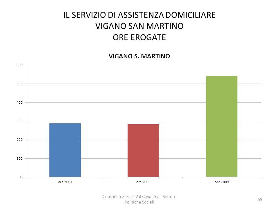 IL SERVIZIO DI ASSISTENZA DOMICILIARE VIGANO SAN MARTINO ORE EROGATE